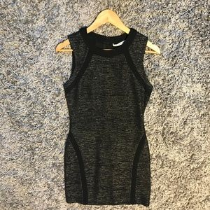 Gold-Sparkled Little Black Bodycon Holiday Dress